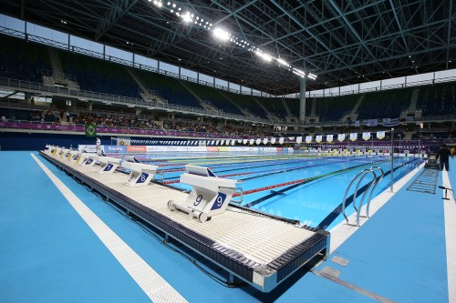 with the rio pools the 50x25x3 metre competition pool is being relocated to a military base in fortaleza do sao joao rio de janeiro on the slopes of