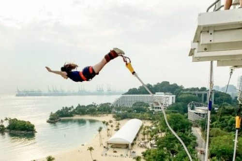 AJ Hackett bungy attraction boosts visits on Singapore's Sentosa Island