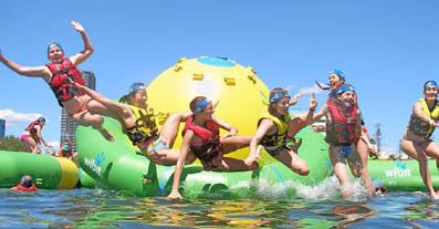 Ambitious locations look to low-cost inflatable aquatic playgrounds