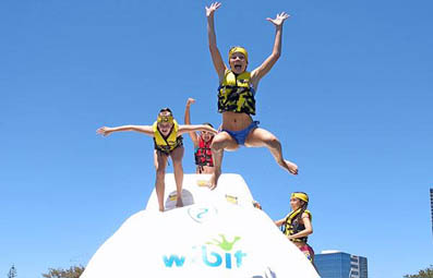 Australia's first open water inflatable adventure playground opens on the Gold Coast