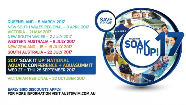 AUSTSWIM to present 'Soak It Up' Conference series