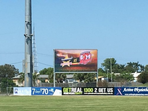 New scoreboard unveiled at BB Print Stadium Mackay