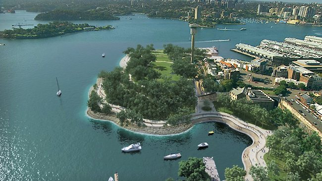 Unveiling for new foreshore park at Barangaroo on Sydney Harbour