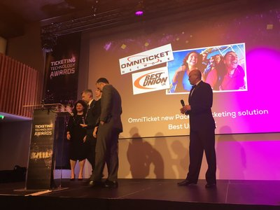 Best Union's OmniTicket ticketing solution wins top international ticketing award