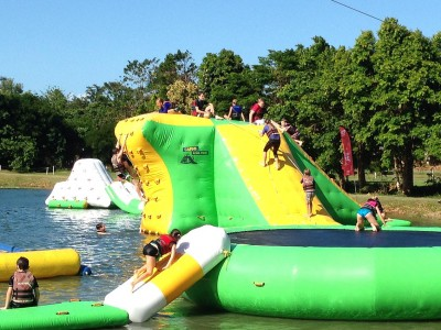 Cairns open water inflatable playground draws in visitors