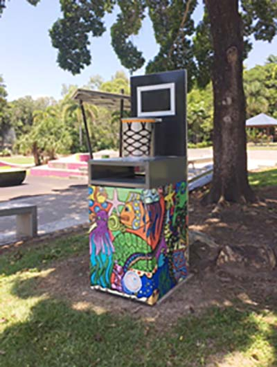 Cairns' innovative and creative bin design encourages waste disposal