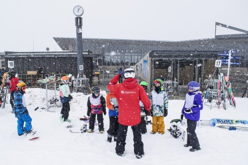 Record breaking spring snow at Coronet Peak