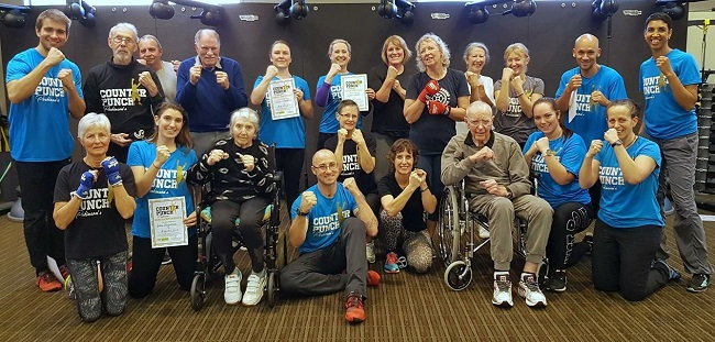 Boxing classes offer benefits to participants with brain diseases