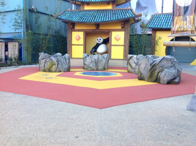 PolySoft surface completes Dreamworld's DreamWorks Experience