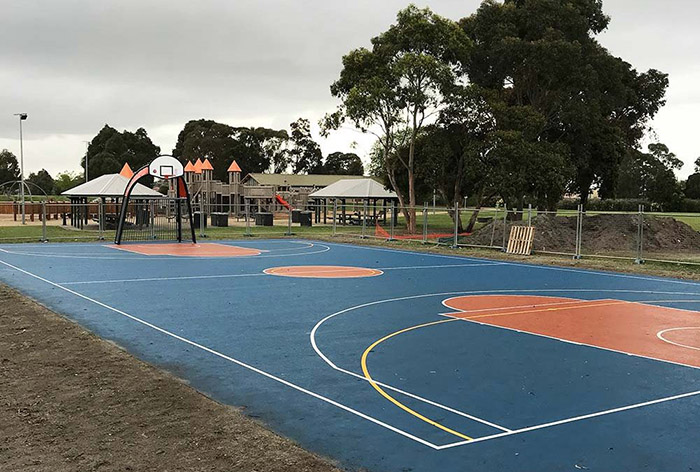 Dynamic Sports Facilities construct Futsal and Basketball multi-sport court for Springvale South