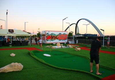 Adventure Golf Australia rolls out pop-up mini golf at Perth's Elizabeth Quay