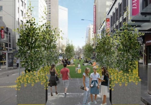 City of Melbourne to create pop-up park at CBD intersection