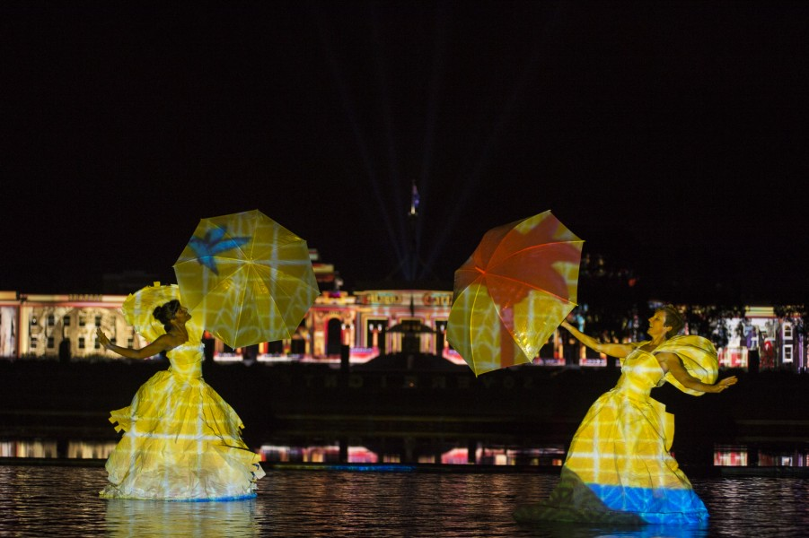 Enlighten Festival lights up landmark Canberra buildings