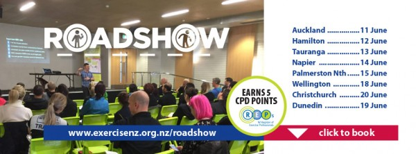 ExerciseNZ 2018 Roadshow to include eight half-day workshops