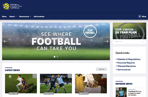 New FFA websites aim to engage football fans and players