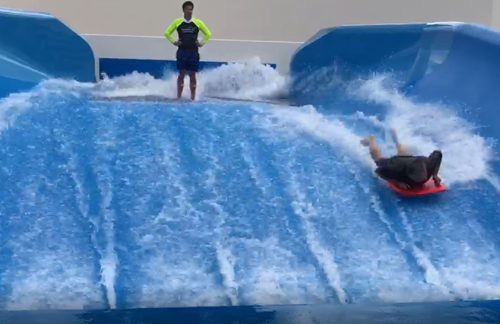 Innovative artificial wave ride opens in western Sydney