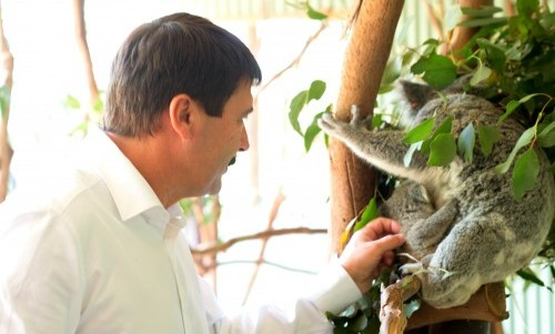 Featherdale Wildlife Park hosts the President of Hungary