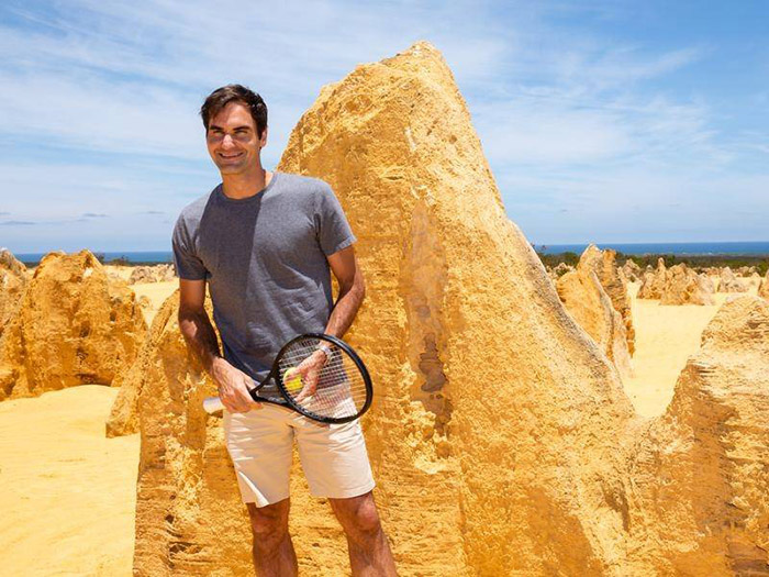 Roger Federer promotes Western Australia's the Pinnacles
