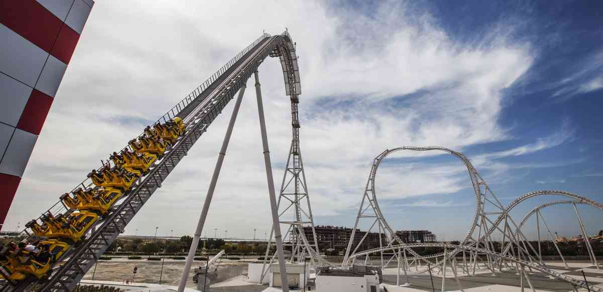 Ferrari World Abu Dhabi opens record-breaking Flying Aces coaster