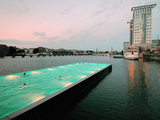 Floating pool for Adelaide's River Torrens?