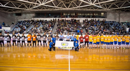 Record crowd for futsal exhibition event at Melbourne's State Netball and Hockey Centre