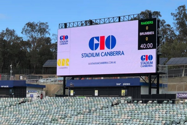 GIO Stadium unveils new video screen and female-friendly changerooms
