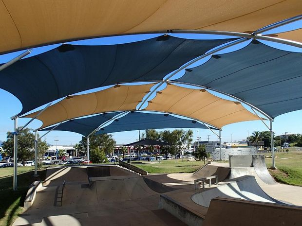 Shade cover enhances popularity of Gladstone skate park facility