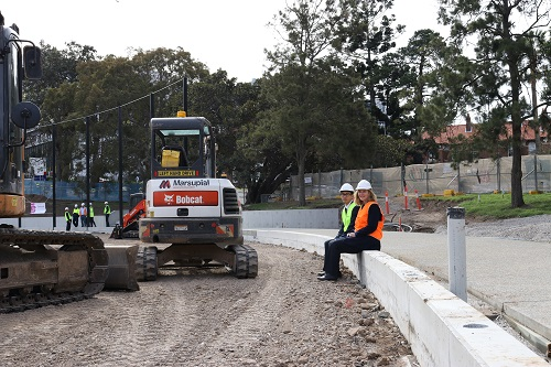 New sporting field takes shape on Sydney's North Shore