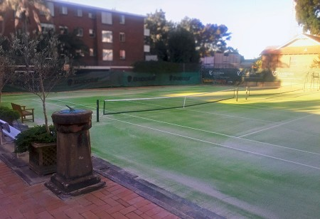 Grand Slam and Polytan deliver new synthetic grass courts for Northern Suburbs Tennis Association