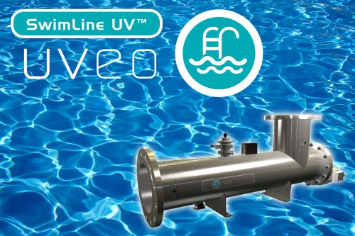 New Hanovia SwimLine techology treats pool water with up to 60% less power consumption