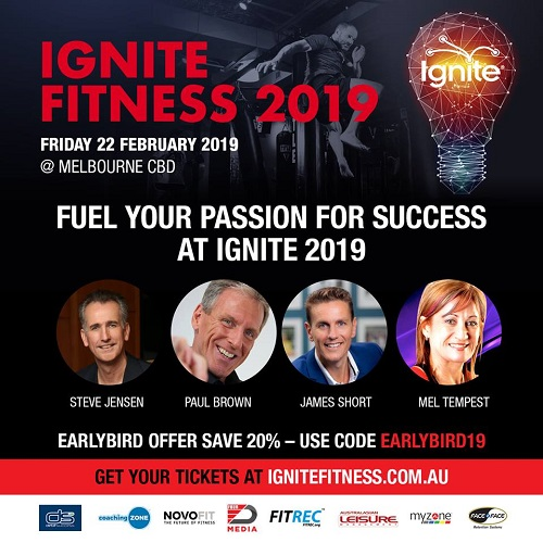 Presenters announced and registrations open for Australia's Ignite Fitness 2019