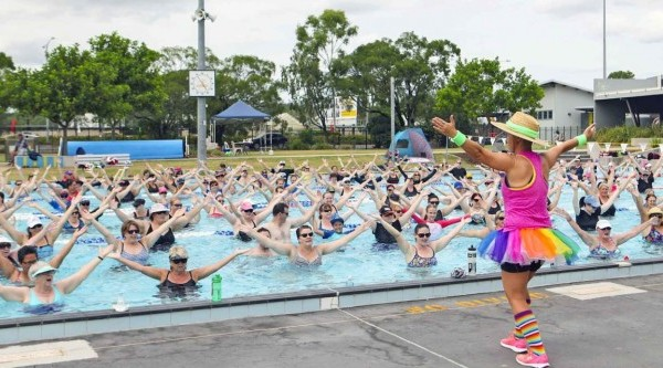 Ipswich Hospital Foundation achieves Guinness World Record for world's largest aqua fitness class