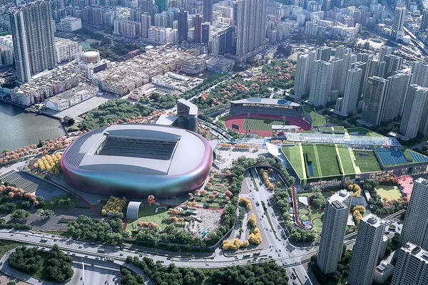 Populous sees Kai Tak Sports Park plan as setting a new multipurpose sport precinct benchmark