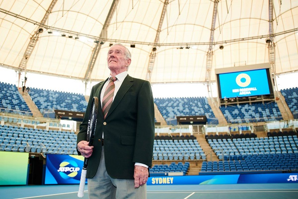 Tennis legend Ken Rosewall unveils Sydney Olympic Park Tennis Centre upgrades