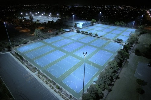 Gerard Lighting illuminates 30 netball courts at Perth's Kingsway Sporting Complex