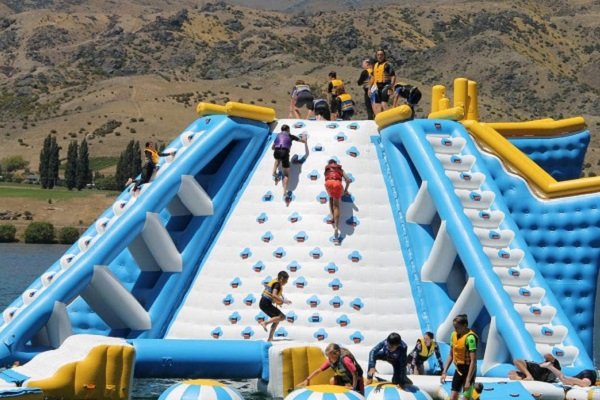 New inflatable aquatic playground operating in Central Otago