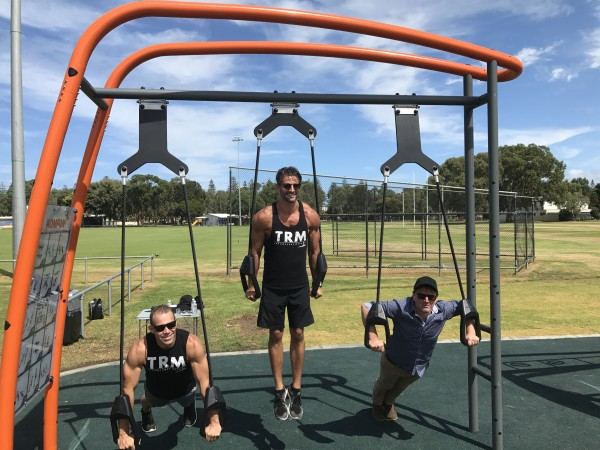 Kompan outdoor gym opens at adelaide s henley beach
