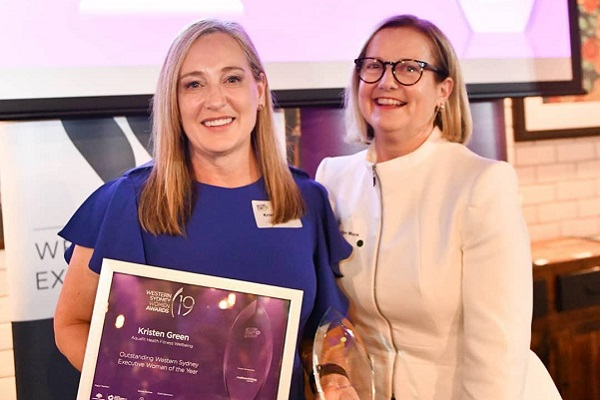 Aquafit Manager Kristen Green receives Outstanding Western Sydney Executive Women of the Year Award