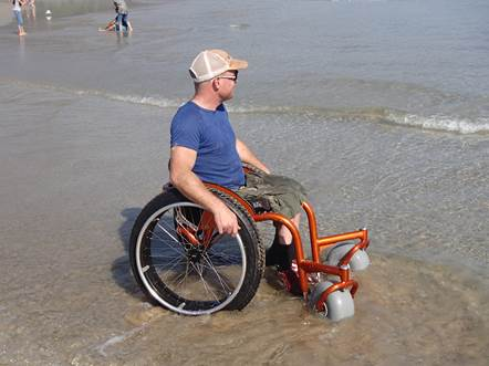 Parks Victoria introduces beach wheelchair at Wilsons Promontory