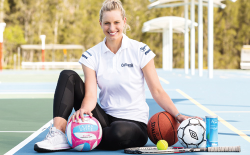 Laura Geitz to promote California Sports Surfaces netball courts