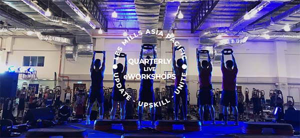 Inaugural live-streamed eworkshops to be delivered by Les Mills Asia Pacific