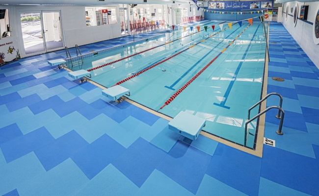 Latest Life Floor installation on display at Hills Swimming in Sydney
