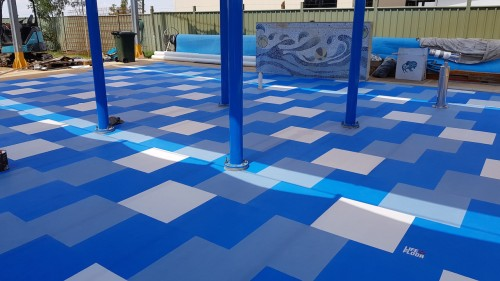 First Life Floor anti-slip installation completed at Julia Creek Swimming Pool