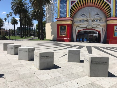 Security bollards erected to protect Luna Park Melbourne