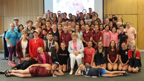 Olympic great inspires youth at SA Aquatic and Leisure Centre