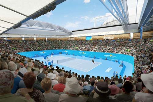 Third retractable roof operational at Australian Open venue