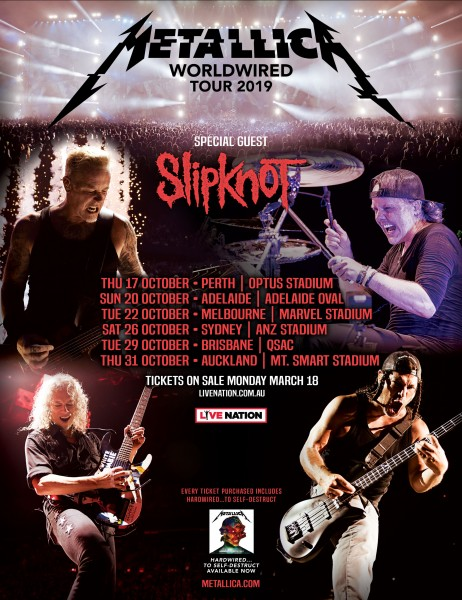 Metallica's Australasian stadium tour to offer enhanced experiences for ticketholders