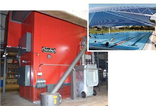 Mount Gambier Aquatic Centre's new biomass boiler helps the environment