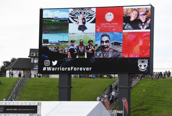 New Zealand's largest big screen goes live at Mt Smart Stadium
