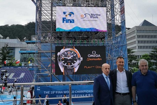 World Swimming Championships marks 10 years of partnership between FINA and Myrtha Pools